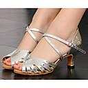 ราคาถูก เครื่องประดับประกอบการเต้นรำ-สำหรับผู้หญิง ลาติน PU ส้น ส้นสูงบาง รองเท้าเต้นรำ สีเงิน / Performance / หนังสัตว์ / ฝึก