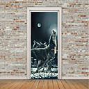 tanie Naklejki ścienne-Naklejki na drzwi - Naklejki ścienne 3D / Naklejki naścienne ze zwierzętami Krajobraz / Zwierzęta Pokój dzecinny / Pokój dziecięcy