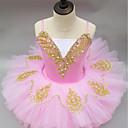 Χαμηλού Κόστους Παιδικά Ρούχα Χορού-Μπαλέτο Φορέματα Κοριτσίστικα Επίδοση Spandex Πλισέ Αμάνικο Τούτους