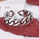 billige Moderinge-Par Curb Chain Åben ring Justerbar ring - Simple, Afslappet / Sportslig, Mode Justerbar Sølv Til Daglig Stævnemøde