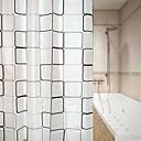 رخيصةأون ستائر الدوش-ستائر الدش والخطاف الحديث PEVA هندسي مصنوع بالماكينة ضد الماء / تصميم جديد حمام
