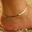 olcso Testékszer-Klasszikus Egyszálas bokaláncot - Stílusos, Klasszikus Arany Kompatibilitás Napi Alkalmi Női