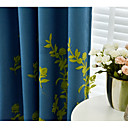 hesapli Şeffaf Perdeler-Blackout Perdeler Perdeler Yemek Odası Çiçekli %100 Polyester Nakış süslü