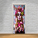 cheap Wall Stickers-Door Stickers - 3D Wall Stickers / People Wall Stickers Halloween Decorations / Floral / Botanical Living Room / Bedroom