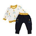 ieftine Set Îmbrăcăminte Băieți Bebeluși-Bebelus Băieți De Bază Zilnic Imprimeu Manșon Lung Regular Regular Poliester Set Îmbrăcăminte Galben 100 / Copil