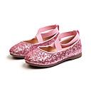 povoljno Cipele za djevojčice-Djevojčice Cipele PU Proljeće ljeto Udobne cipele / Obuća za male djeveruše Ravne cipele Hodanje Šljokice za Djeca Zlato / Crn / Pink