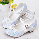 cheap Girls' Shoes-Girls' Shoes Faux Leather Spring &  Fall Flower Girl Shoes Heels Rhinestone for Kids / Teenager White / Blue / Pink