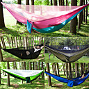 cheap Camping Furniture-Camping Hammock with Mosquito Net Outdoor Breathability Nylon, Breathable Mesh for Hiking / Camping - 2 person Dark Blue / Fuchsia / Coffee