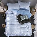 זול כיסוי שמיכות מוצק-סטי שמיכה פאר polyster ג'אקארד 4 חלקיםBedding Sets / 300 / 4 יחידות (1 כיסוי שמיכה, 2 כיסוי כרית, 1 סדין)
