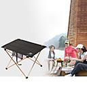 זול ריהוט למחנאות-שולחן קמפינג חיצוני נייד, משקל קל, מתקפל אלומיניום ל דיג / צעידה / חוף שחור