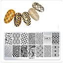 billige Heldækkende negleklistermærker-1 pcs Skabelon Klassisk Tema / Kreativ Negle kunst Manicure Pedicure Mønster / Afslappet / Hverdag Dagligdagstøj