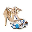 povoljno Ženske sandale-Žene Sandale Udobne cipele Stiletto potpetica PU Proljeće Crvena / Zelen / Plava