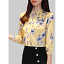 cheap Human Hair Capless Wigs-Women's Blouse - Solid Colored / Floral / Geometric Print
