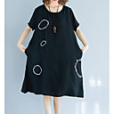 cheap Women's Sandals-Women's Daily Slim Tunic Dress Low Waist Black L XL