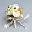 """cheap Wedding Flowers-Wedding Flowers Boutonnieres / Wrist Corsages Wedding / Party Evening Polyester 2.76""""(Approx.7cm)"""