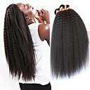 olcso Természetes színű póthajak-4 csomópont Brazil haj Yaki Straight 8A Emberi haj Emberi haj tincsek 8-28 hüvelyk Fekete Természetes szín Emberi haj sző Géppel készített Extention Fekete hölgyeknek 100% Szűz Human Hair Extensions