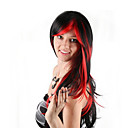 זול פיאות סינטטיות ללא כיסוי-פאות סינתטיות / פאות לתחפושות בגדי ריקוד נשים ישר אדום תספורת בוב שיער סינטטי 24 אִינְטשׁ קוספליי / צבע הדרגתי / עבור אירופה אדום / שחור פאה חצי אורך הוכן באמצעות מכונה שחור / אדום שחור / לבן
