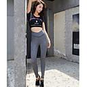 ieftine Colier la Modă-Pentru femei Stil Nautic Trening - Negru Sport Scrisă Talie Inaltă Dresuri Ciclism / Leggings / Tricou Decupat Yoga, Alergat, Fitness Mânecă scurtă Îmbrăcăminte de Sport  Respirabil, Uscare rapid