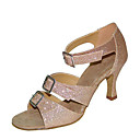 abordables Chaussures Latines-Femme Chaussures de danse Satin Chaussures Latines Sandale / Talon Talon Bobine Personnalisables Noir / Marron / Entraînement / Utilisation