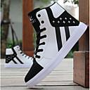 זול סניקרס לגברים-בגדי ריקוד גברים PU אביב קיץ נוחות נעלי ספורט קולור בלוק לבן / שחור / שחור אדום