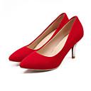 hesapli Kadın Topukluları-Kadın's Topuklular Konforlu Ayakkabılar Stiletto Topuk PU Bahar Siyah / Kırmzı / Mavi / Günlük