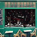 tanie Naklejki ścienne-Folie okienne i naklejki Dekoracja Święta Solidne kolory / Groszki / Święto Polichlorek winylu Lśniący / Naklejka okienna