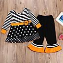 povoljno Donje rublje i čarape za djevojčice-Djeca Djevojčice Aktivan Prugasti uzorak Dugih rukava Pamuk Komplet odjeće Crn