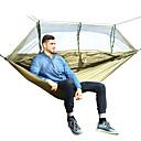 billige Magnetiske puslespil-Camping-hængekøje med myggenet Udendørs Letvægt Nylon for Vandring / Camping / Rejse - 2 personer Mørkeblå / Grå / Army Grøn