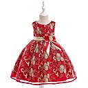 tanie Sukienki dla dziewczynek-Dzieci Dla dziewczynek Jendolity kolor Bez rękawów Sukienka