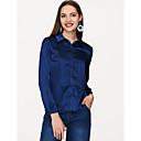 billige Syntetiske parykker uden hætte-Krave Dame - Ensfarvet Basale Skjorte