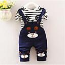 ieftine Pantaloni Băieți-Bebelus Băieți De Bază Mată / Dungi Cu Șiret Manșon scurt Bumbac Set Îmbrăcăminte