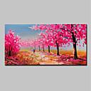 hesapli Manzara Resimleri-Hang-Boyalı Yağlıboya Resim El-Boyalı - Soyut Manzara Modern Iç çerçeve dahil / Gerilmiş kanvas
