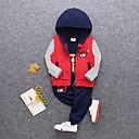 ieftine Set Îmbrăcăminte Băieți Bebeluși-Bebelus Băieți De Bază Zilnic Dungi Manșon Lung Regular Bumbac Set Îmbrăcăminte Trifoi 100 / Copil