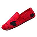 رخيصةأون أحذية أوكسفورد للرجال-للرجال كانفا صيف موكاسين المتسكعون وزلة الإضافات بلوك ألوان أبيض / أحمر
