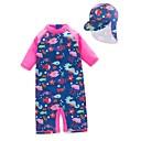 ieftine Fuste Fete-Copii / Copil Fete Plajă Imprimeu Poliester Costum Baie Albastru piscină 100