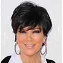 billige Syntetiske parykker uden hætte-Syntetiske parykker Bølget Kardashian Stil Kort bob Lågløs Paryk Sort Sort Syntetisk hår 6 inch Dame Dame / Med Bangs Sort Paryk Kort / Ja