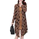 hesapli Kozmetik Kutuları ve Çantaları-Kadın's Büyük Bedenler Salaş İki Parça Elbise - Geometrik, Desen Diz üstü / Bahar / Sonbahar