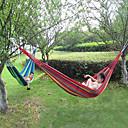 preiswerte Hochzeitsblumen-Campinghängematte Außen Tragbar, Feuchtigkeitsundurchlässig, Gut belüftet Segeltuch für Jagd / Wandern / Angeln - 1 Person Rot / Blau