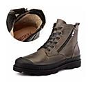 זול מגפיים לגברים-בגדי ריקוד גברים מגפיי קרב עור נאפה Leather סתיו / חורף בריטי מגפיים ללא החלקה מגפונים\מגף קרסול שחור / חום