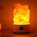 olcso Asztali dekor lámpa-1db usb éjszakai fény tápegység természetes himalájai só lámpa egyedi kristály sók otthoni hálószoba világítás dekor kézműves