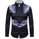 billige Verneutstyr-Store størrelser Skjorte Herre - Geometrisk / Langermet