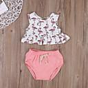 ieftine Set Îmbrăcăminte Bebeluși-Bebelus Fete Activ Imprimeu Imprimeu Fără manșon Scurt Bumbac Set Îmbrăcăminte / Copil