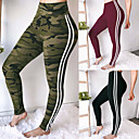 cheap Hair Braids-Women's Patchwork Yoga Pants - Black, Army Green, Red Sports Color Block Spandex Skinny Pants Fitness, Gym Activewear Compression, Push Up High Elasticity