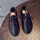 ieftine Pantofi Fetițe-Fete Pantofi PU Primăvara & toamnă / Primăvară Confortabili Pantofi Flați Plimbare Dantelă pentru Copii / Adolescent Negru / Galben / Roz / Party & Seară