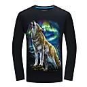 tanie Bransoletki męskie-T-shirt Męskie Vintage Zwierzę Wilk