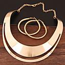 preiswerte Schmuckset-Damen Hohl Schmuck-Set - Erklärung, Einfach, Europäisch Einschließen Kreolen Halskette Gold / Silber Für Party / Ohrringe