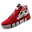 tanie Adidasy męskie-Męskie Komfortowe buty PU Jesień Casual Adidasy Wodoszczelność Biały / Czarny / Czerwony
