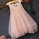 tanie Sukienki dla dziewczynek-Dzieci Dla dziewczynek Śłodkie Solidne kolory Koronka / Cekiny / Patchwork Bez rękawów Midi Sukienka