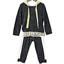 זול סטים של ביגוד לבנים-סט של בגדים שרוול ארוך דפוס / קולור בלוק בנים ילדים