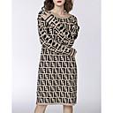 hesapli Terlikler-Kadın's Kombinezon Elbise Midi
